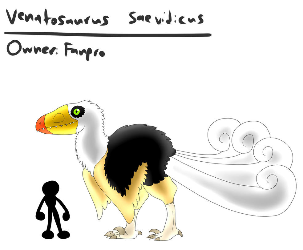 Venatosaurus saevidicus (Revealed) by TipsyRa1d3n on