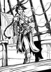 Corsair girl by linflas-art