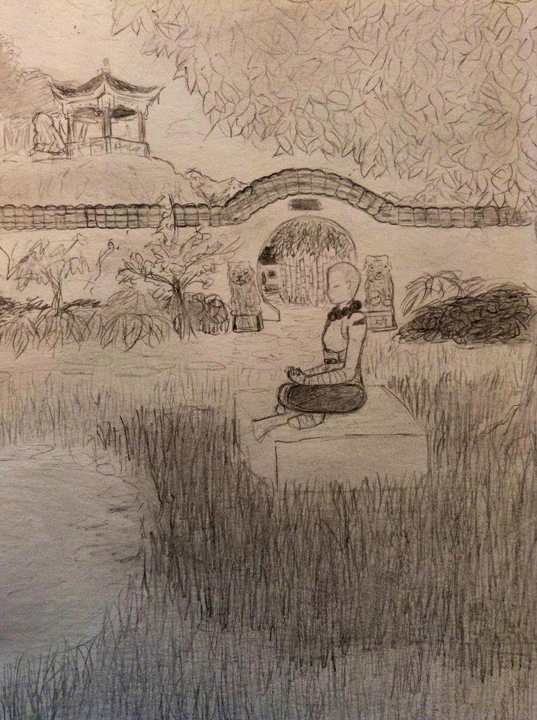 Khaazira meditating by andreaissy