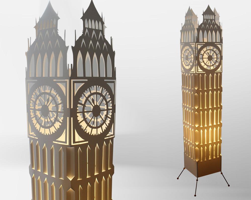 Big ben clock tower floor lamp by gallinidesign1 on DeviantArt