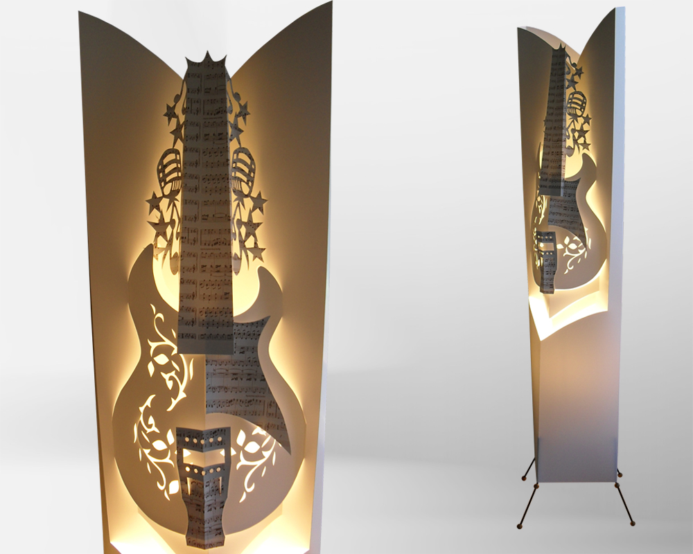 Guitar floor lamp by gallinidesign1 on deviantart guitar floor lamp by gallinidesign1 aloadofball Gallery