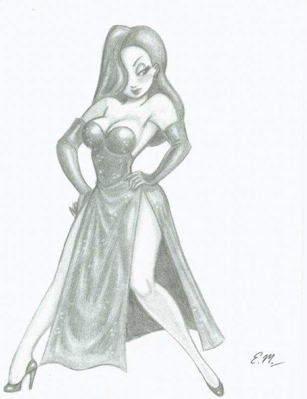 Jessica Rabbit Commission by em-scribbles