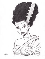 Bride of Frankenstein Commission by em-scribbles