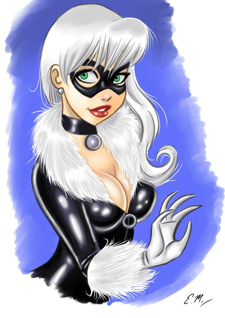 Black Cat by em-scribbles