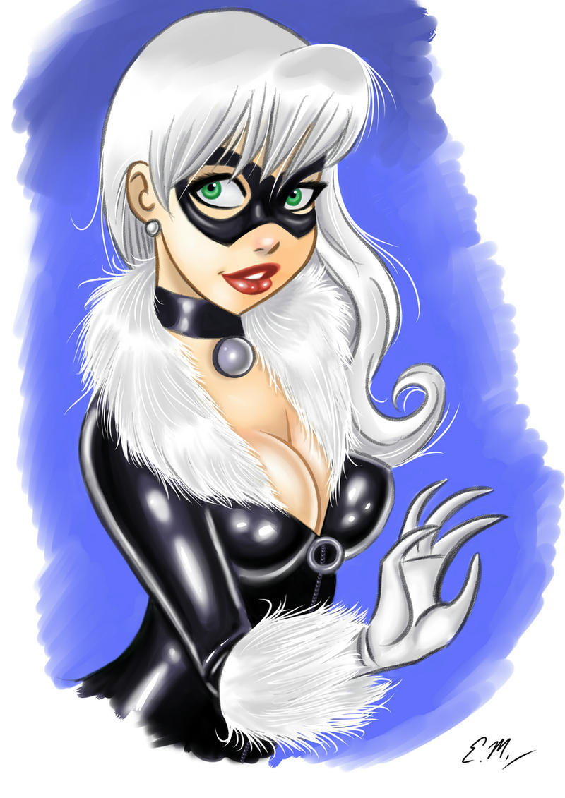 Black Cat by em-scribbles