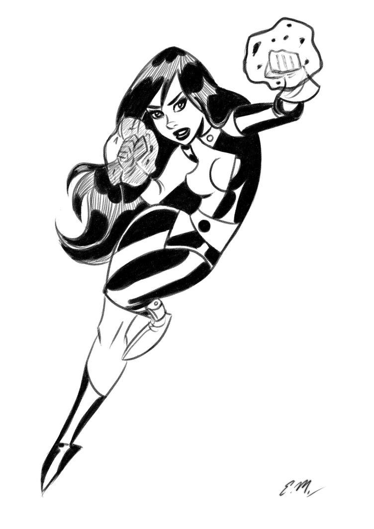 Shego Sketch by em-scribbles