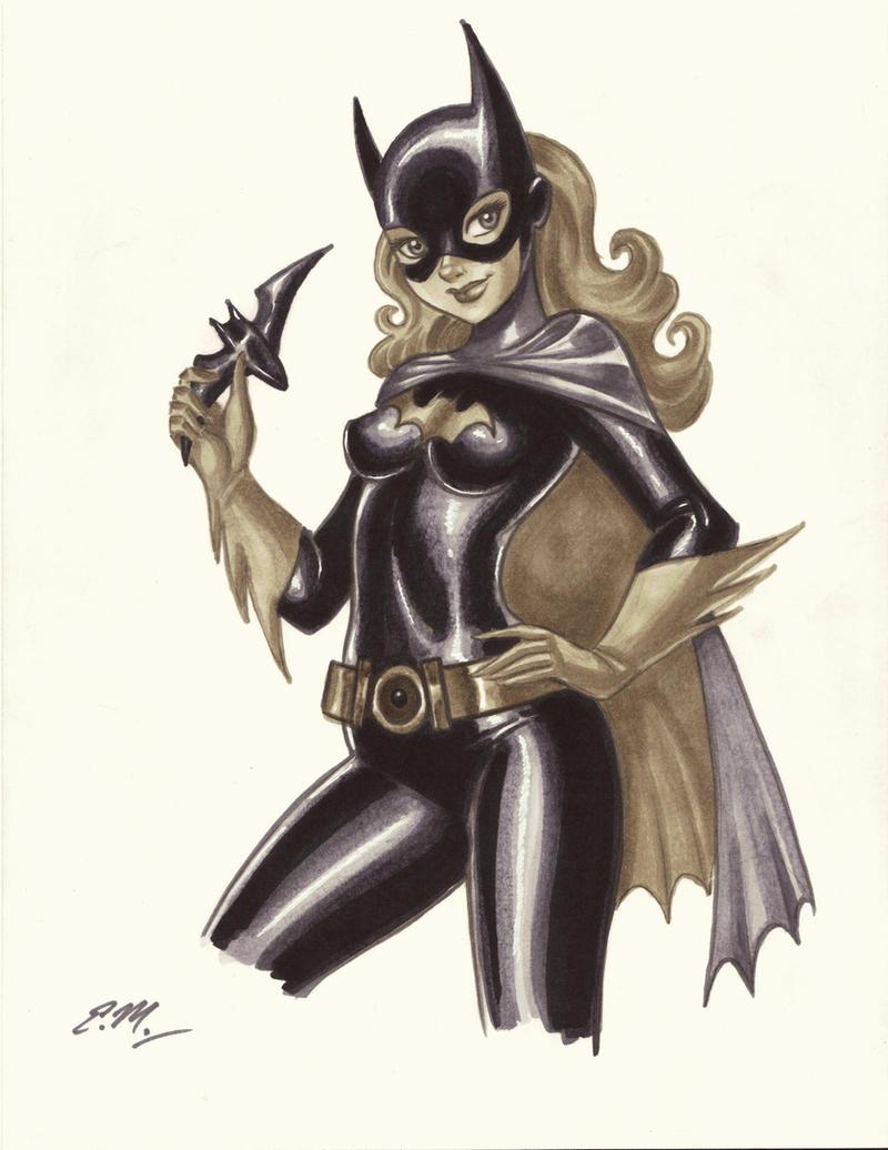 Batgirl Marker Drawing by em-scribbles