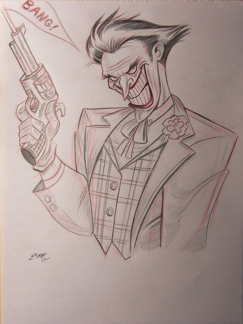 Joker pencil sketch by em scribbles