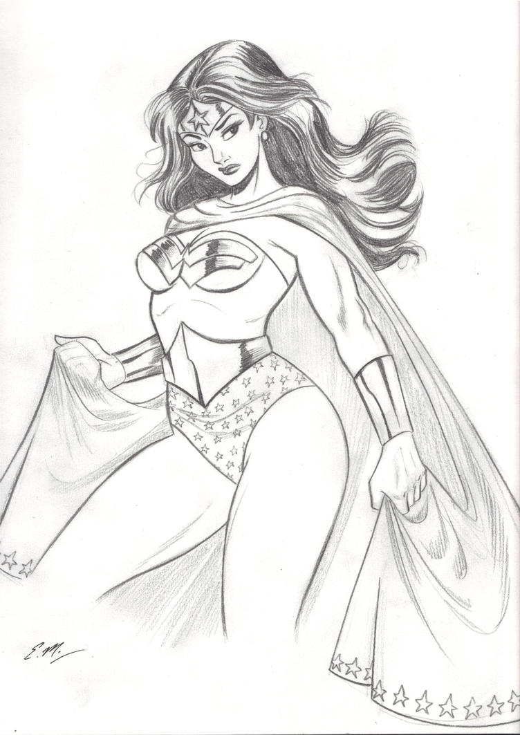 Diana Pencil Sketch by em-scribbles