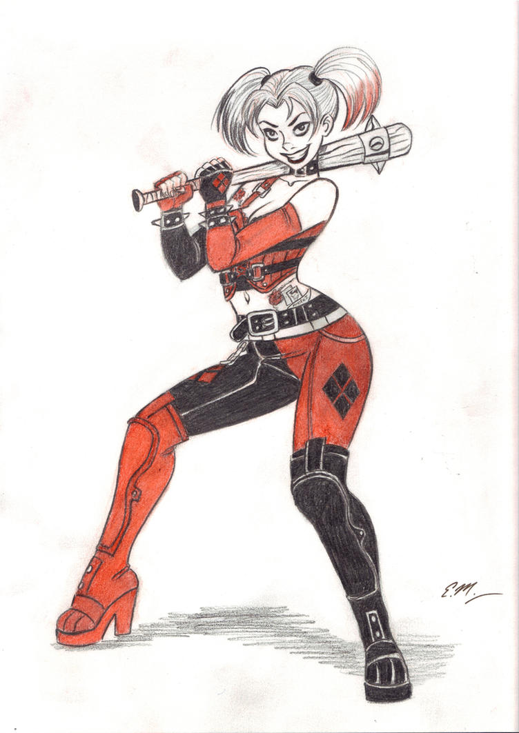 AC Harley Sketch Commission by em-scribbles