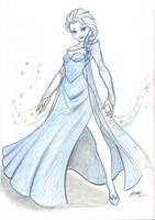 Elsa Sketch 2 by em-scribbles