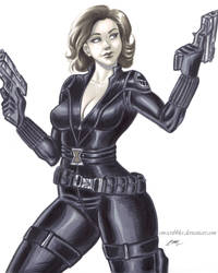 Black Widow Marker Sketch by em-scribbles