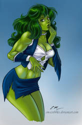 She Hulk Commission (Colors) by em-scribbles