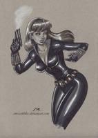 Black Widow Sketch by em-scribbles
