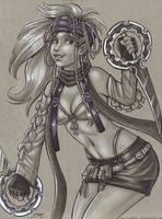 Rikku by em-scribbles