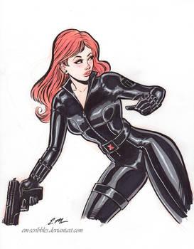 Inktober Black Widow