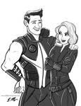 Clint and Natasha