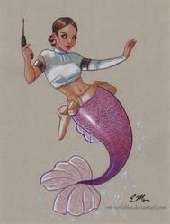 Mermaid Padme by em-scribbles