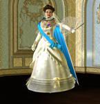 Edwardian Queen Formal Portrait 082913