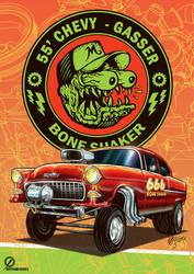 55' Chevy Gasser - Bone Shaker by christiano-bill