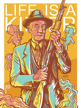 Poster to William Burroughs 100th anniversary