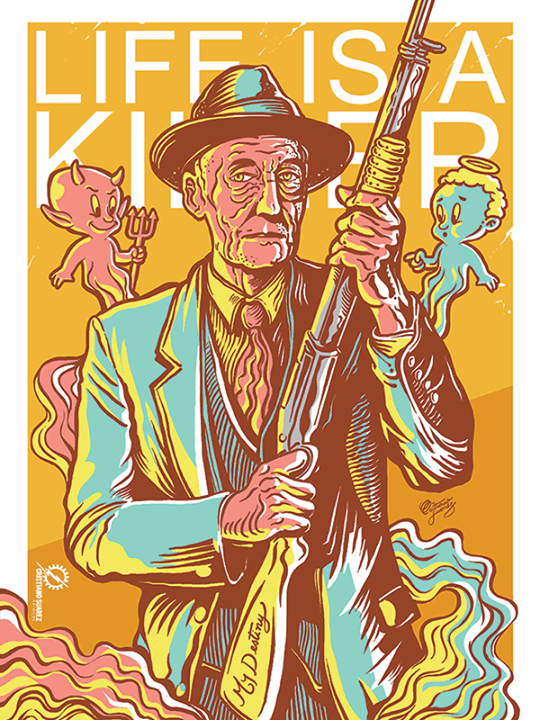 Poster to William Burroughs 100th anniversary by christiano-bill