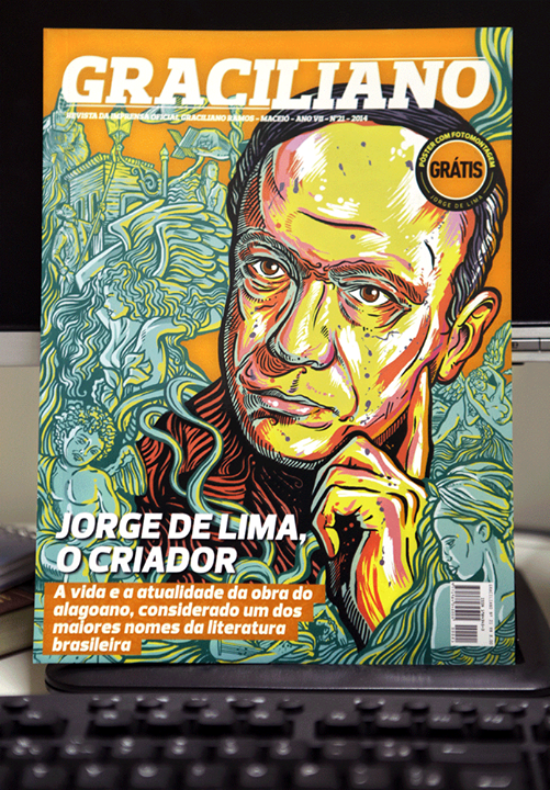 Revista Graciliano - Capa Jorge de Lima by christiano-bill