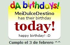 Happy Birthday To Me x3 by MeiDulceDestino