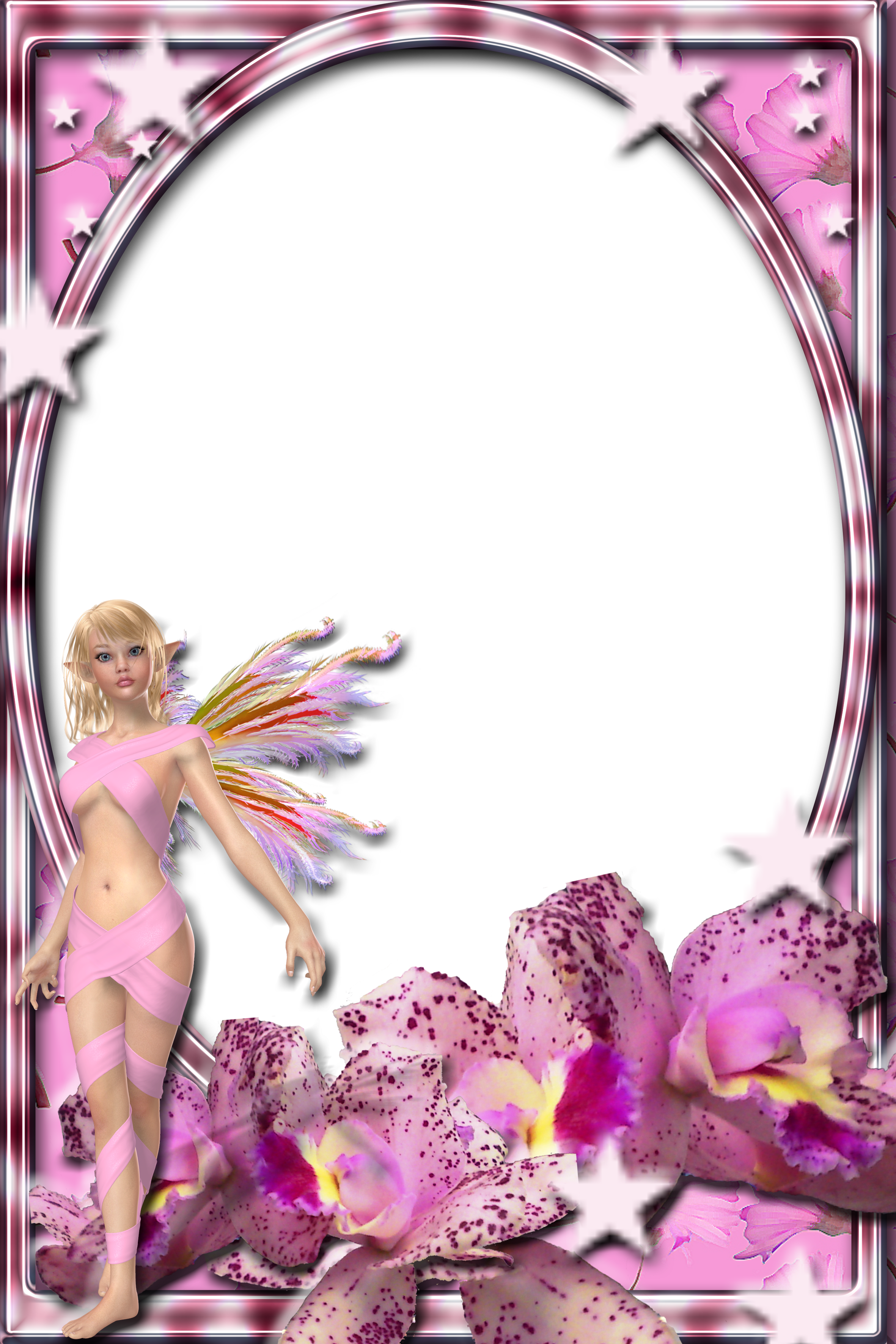 Lav\'s PNG Frames95 with fairy of joannastar-stock by Lavandalu on ...