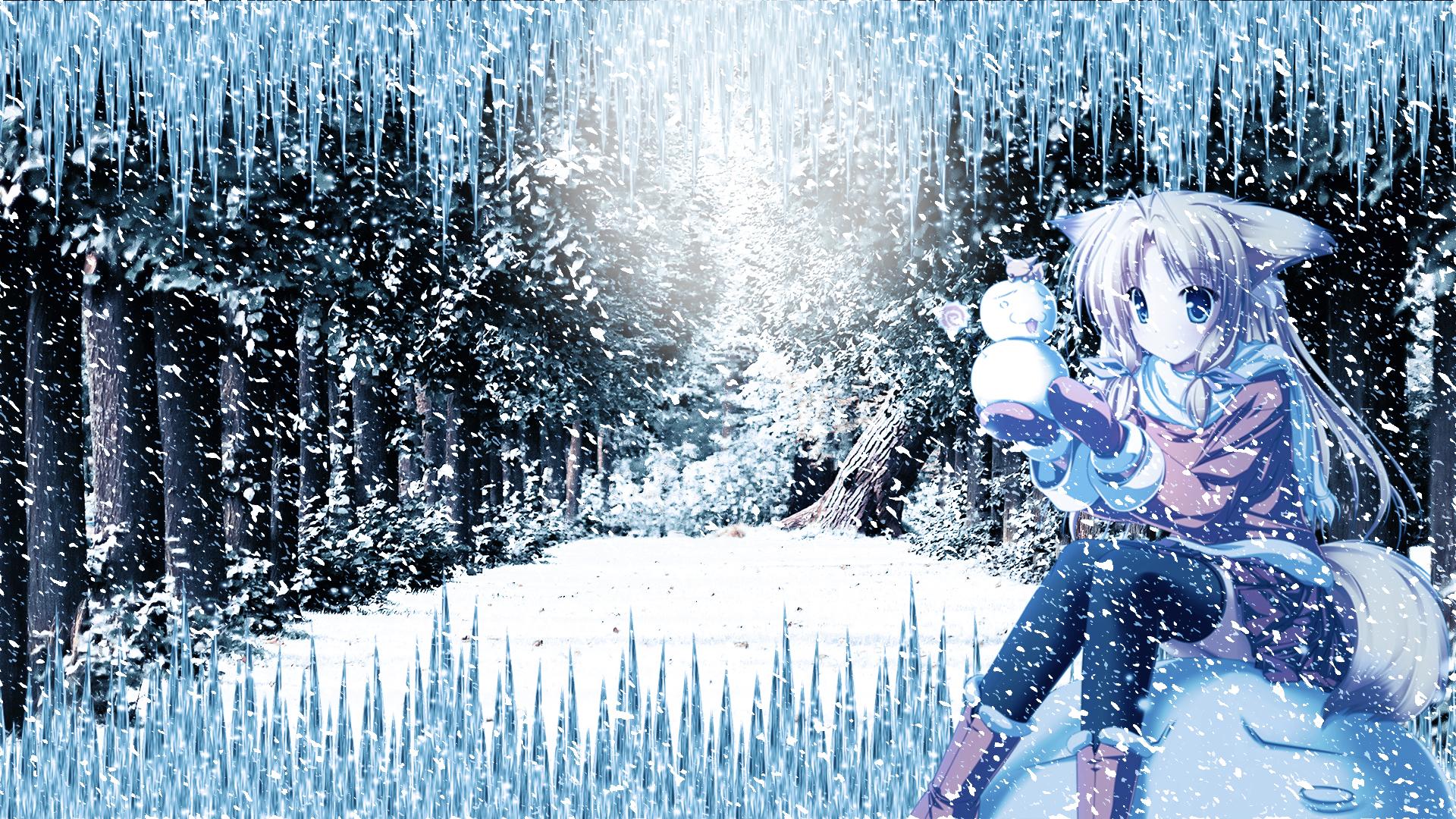 Winter Anime Girl Wallpaper: Snown Anime Girl Wallpaper HD By Ponydesign0 On DeviantArt