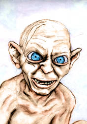 gollum portrait by garent