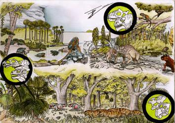 Lost Shore, Permian Patch(Herbivores) by TitanChief10
