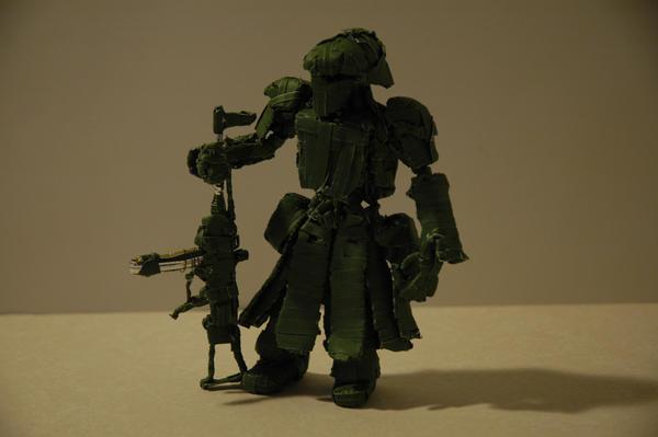 Green Bipedal mech by Panzer-13