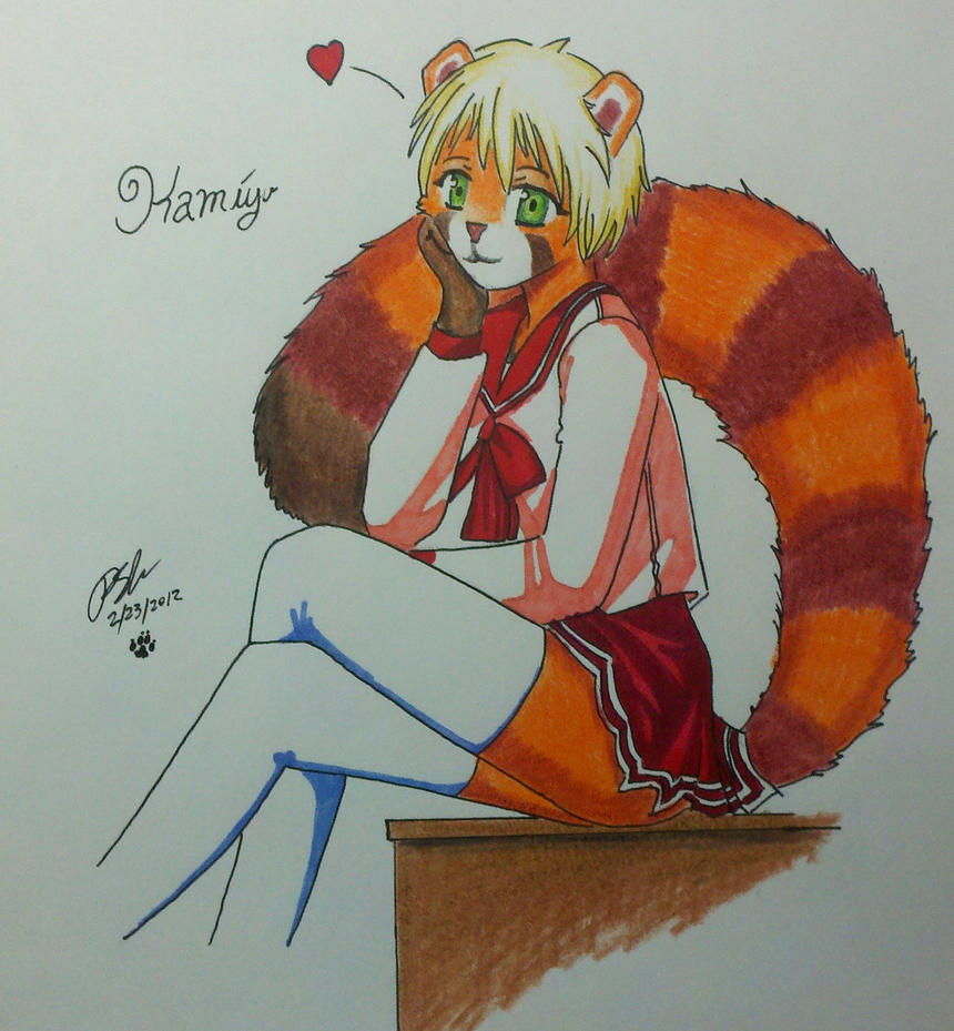 Kamiyu the schoolgirl by Panzer-13