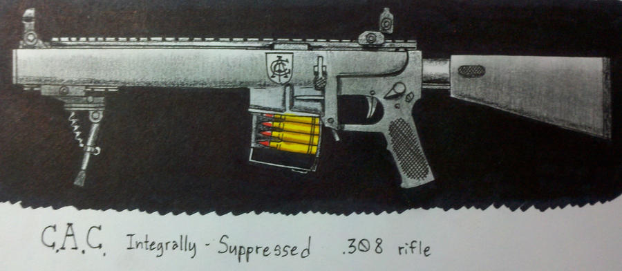 C.A.C. integrally suppressed rifle by Panzer-13
