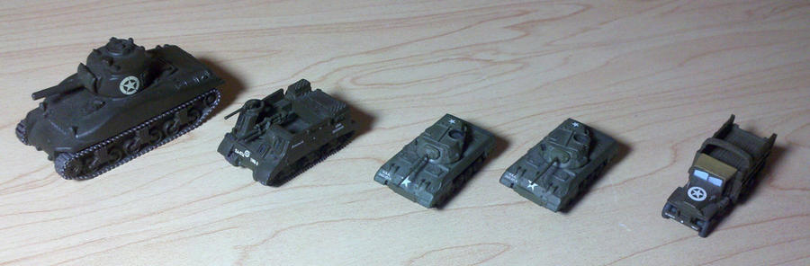US Armored Column by Panzer-13