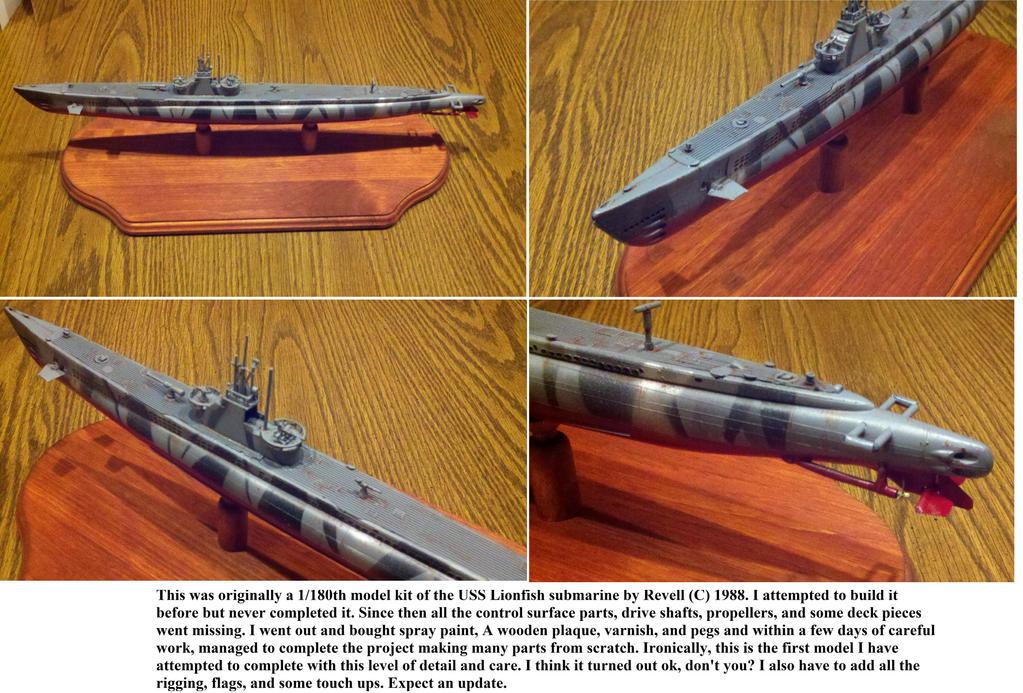 USS Lionfish remake by Panzer-13