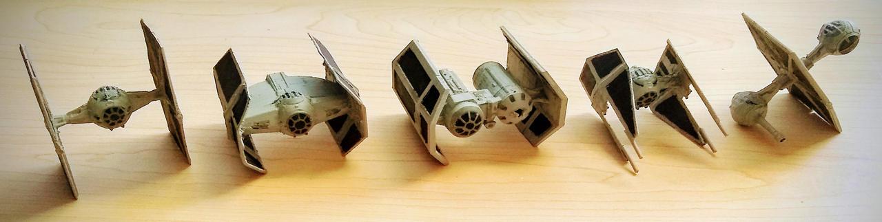 Imperial tie squadron 3d print