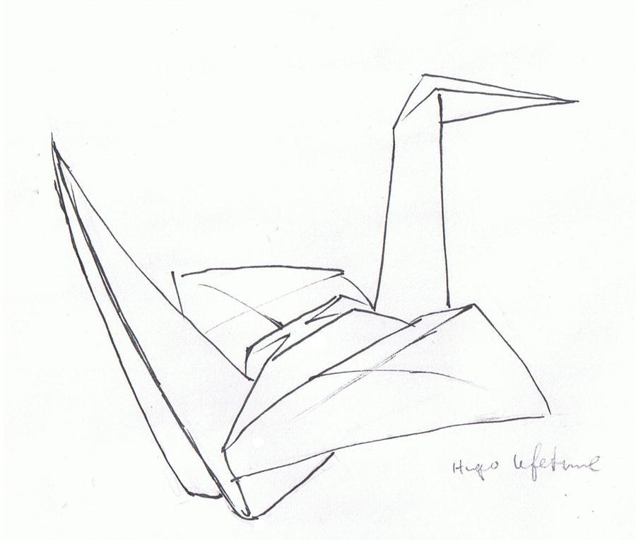 simple origami crane by finalxjudgement on deviantart
