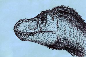 T. rex Portrait by CyRaptor