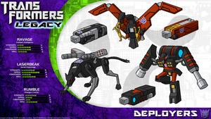 Transformers Legacy: Ravage/Laserbeak/Rumble