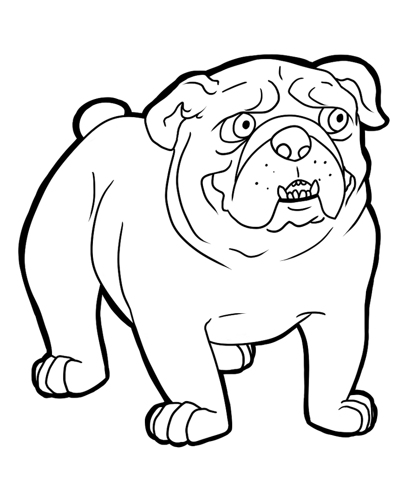 Old English Bulldog Coloring Pages Coloring Pages