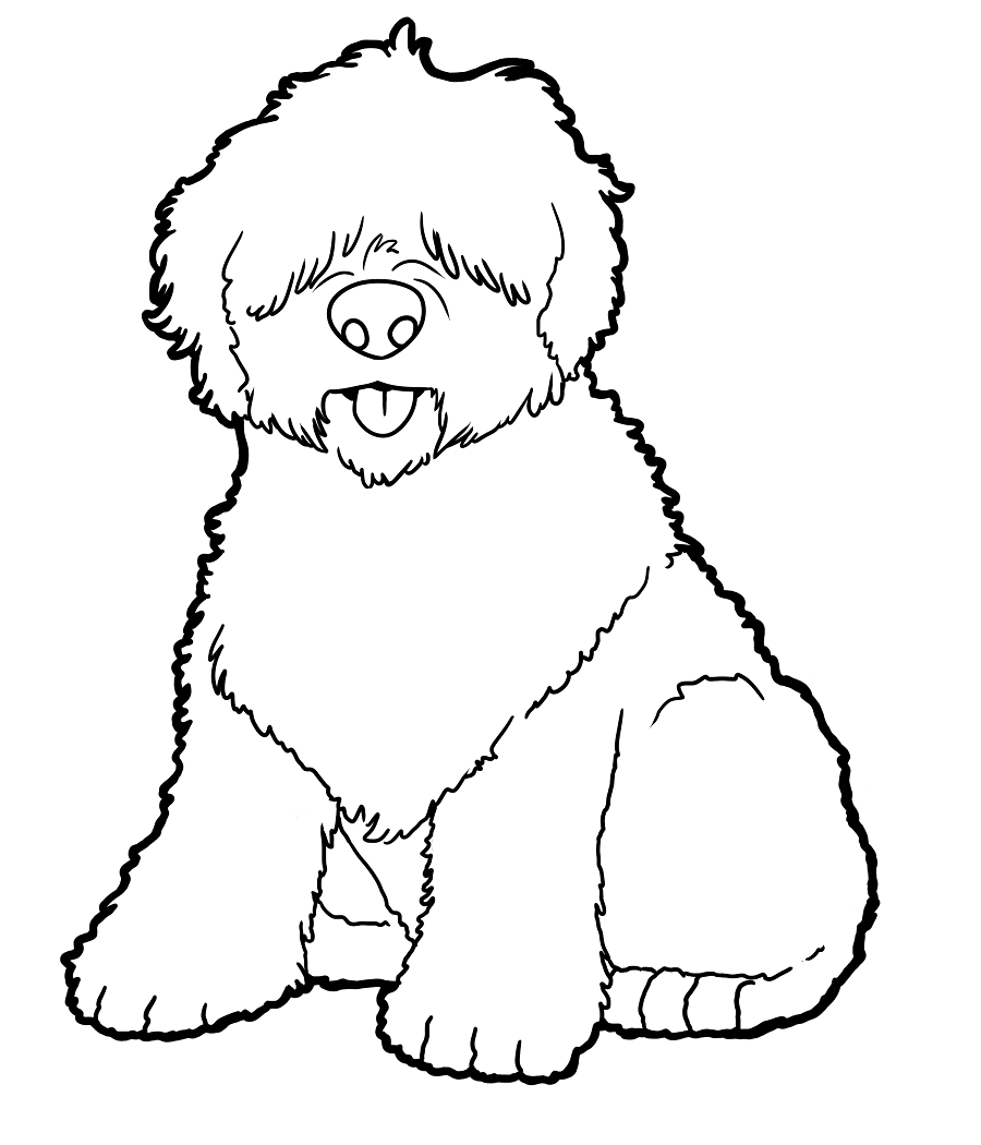 dog and lamb coloring pages - photo#23