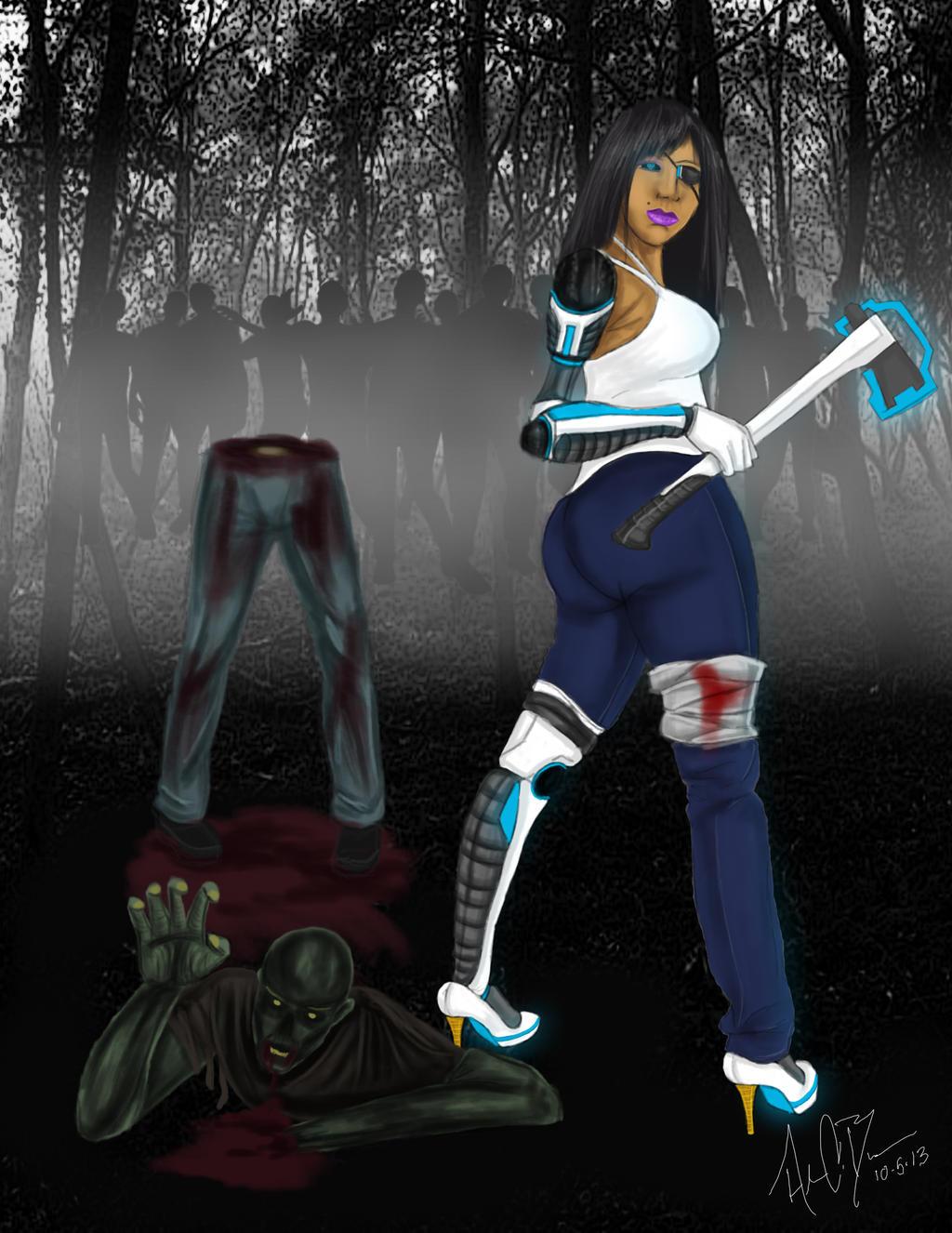 Cyborg Zombie Killer by DarkGX