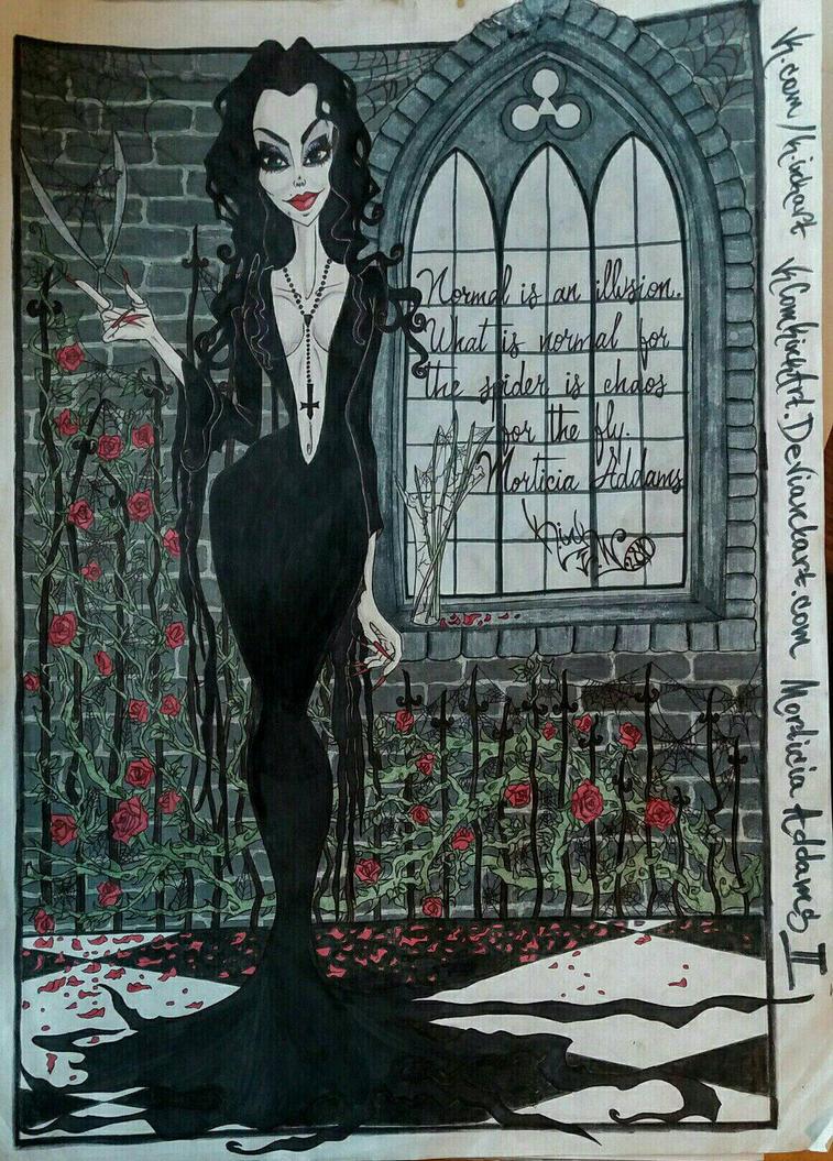 Morticia Addams 2017 K.InkArt by VkComKinkArt