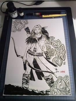 Skadi Crow Bow - Ink Version