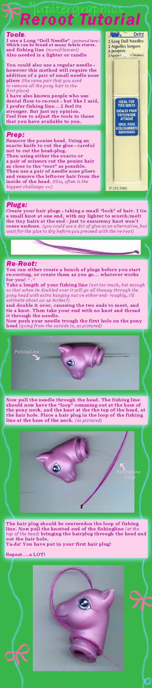 Pony Re-Rooting Tutorial by jupiternwndrlnd