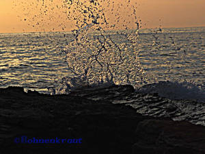 Watersplash on Corfu Island in HDR