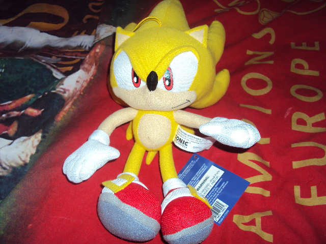 Super Sonic Plush by RedDevilDazzy2007