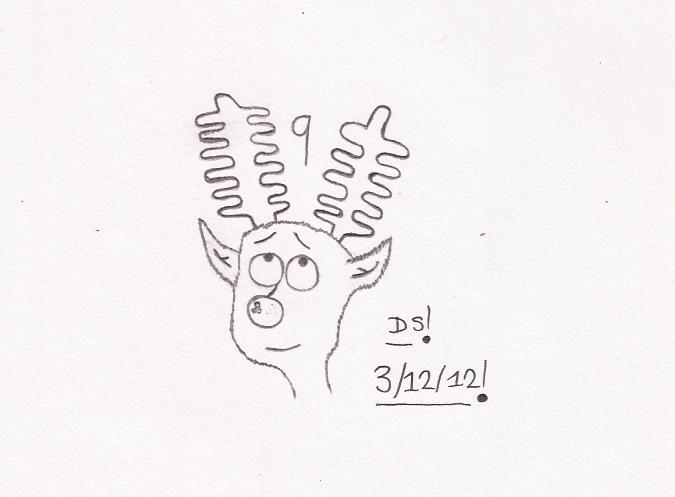 Christmas Drawing - Rudolf - 9 by DazzyADeviant